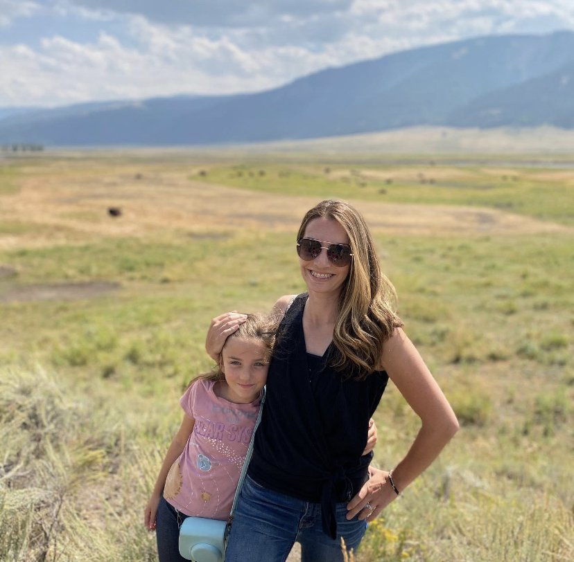 mom and daughter exploring montana
