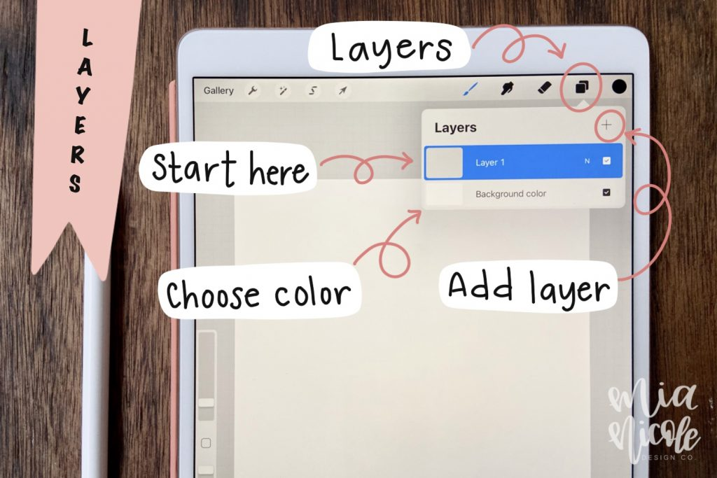 procreate tutorial for using layers in procreate