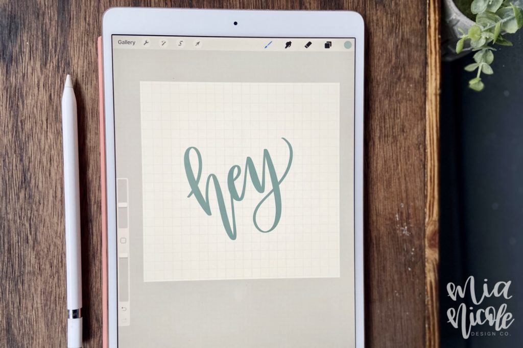 i-pad lettering with apple pencil
