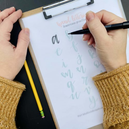 The Beginners Guide: Hand Lettering Practice Sheets