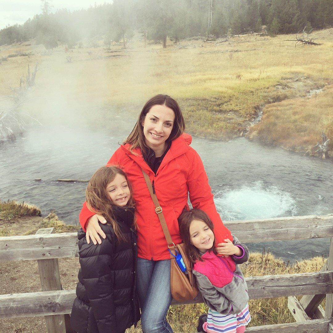 Family photo at Yellowstone